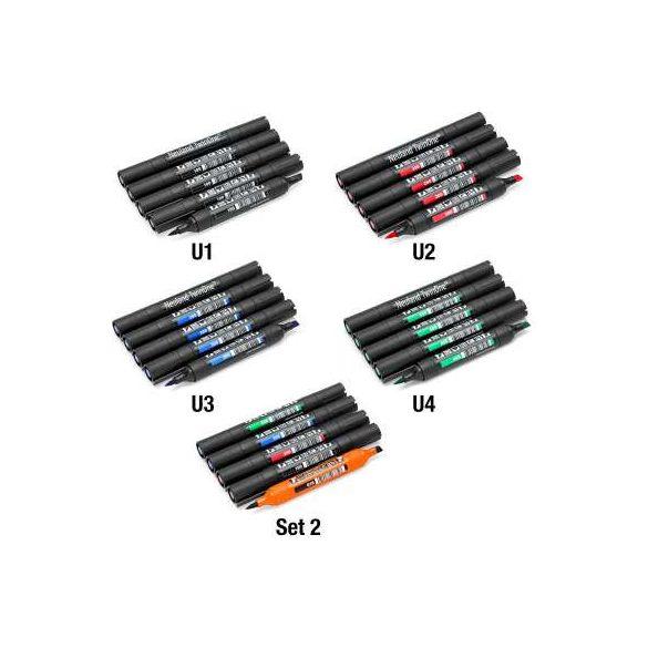 Neuland TwinOne®, vágott- és ecsethegyű, 5 db/szett - Kék