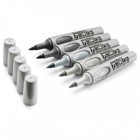 Neuland No.One® Art, ecsethegyű 0,5-7 mm, 5 db/készlet - Tones of Grey, 80592194