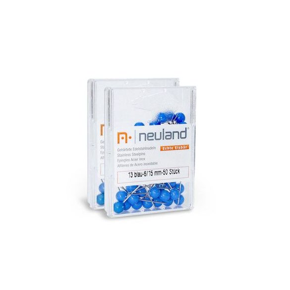 Gombostű 6 mm 100 db kék