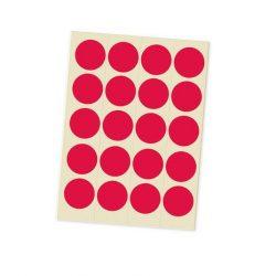 Jelölőpont lapok 20 mm piros