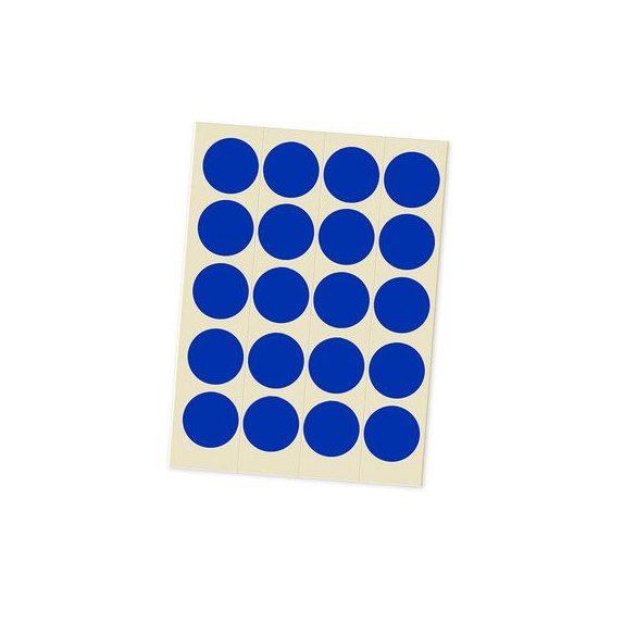 Jelölőpont lapok 20 mm kék