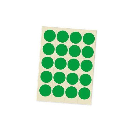 Jelölőpont lapok 20 mm zöld
