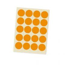 Jelölőpont lapok 20 mm narancs