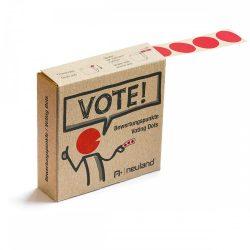 VOTE! Jelölőpont tekercs 20 mm piros
