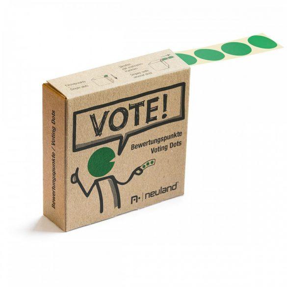 VOTE! Jelölőpont tekercs 20 mm zöld