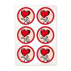 Szimbólum lapok 39mm szív