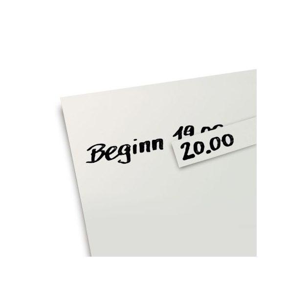 Javító etikettek pinwandpapírhoz fehér színben