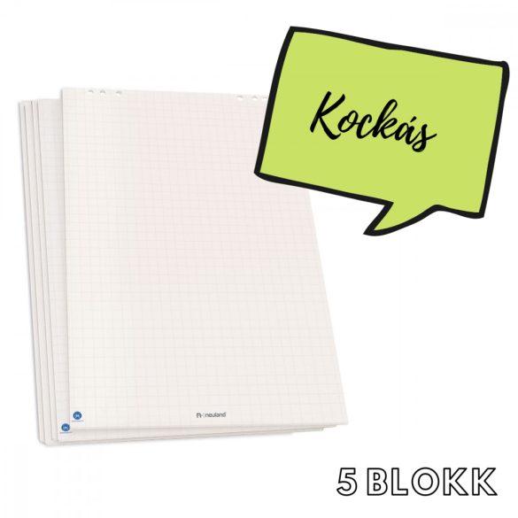 Flipchart papír fényes fehér kockás