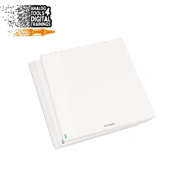 InstaFlip fényes fehér, kockás, újrahasznositott flipchart papír