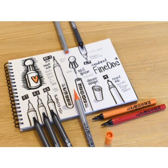 Neuland FineOne® Sketch, 0.5 mm, vékony hegyű, szürke, 88220101