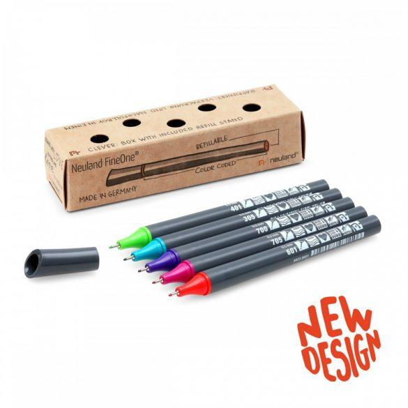 Neuland FineOne® Sketch, 5db/szett, No. 23 Bold Colors, tűhegyű tusfilc,  88222995