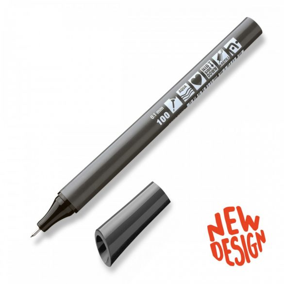 Neuland FineOne® Sketch fekete marker, újratölthető, 0,7 mm