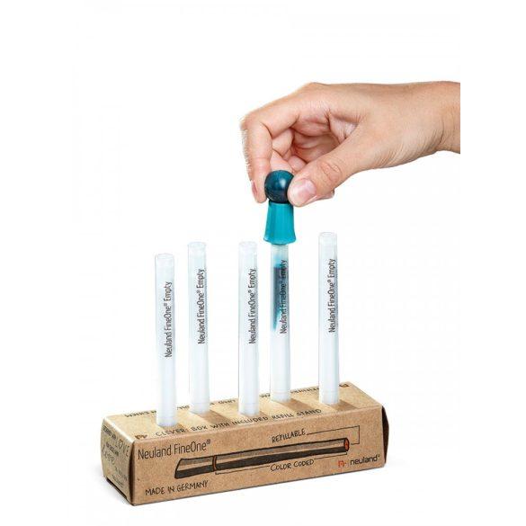 Neuland FineOne®, átlátszó, ecsethegyű, üres marker, 0,5-5 mm