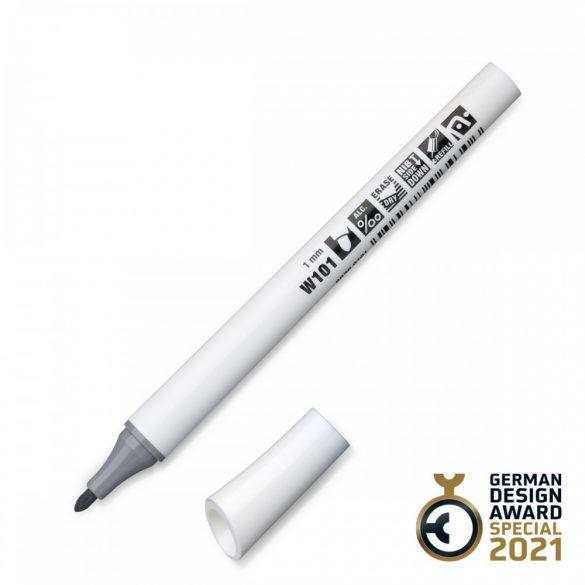 Neuland FineOne® Whiteboard, kerek hegyű, 1 mm – W101 szürke