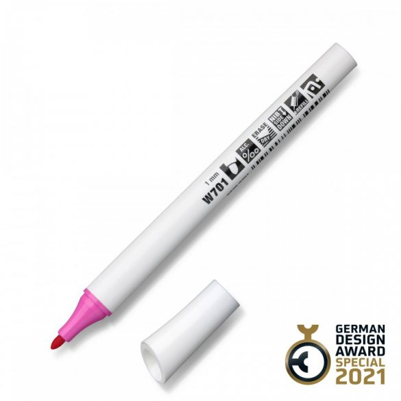 Neuland FineOne® Whiteboard, kerek hegyű, 1 mm – W701 pink