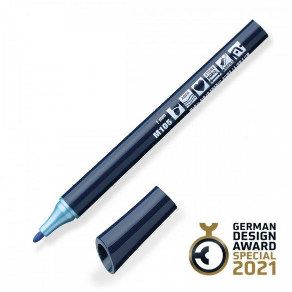 Neuland FineOne® Metallic, kerek hegyű 1 mm – M105, kék