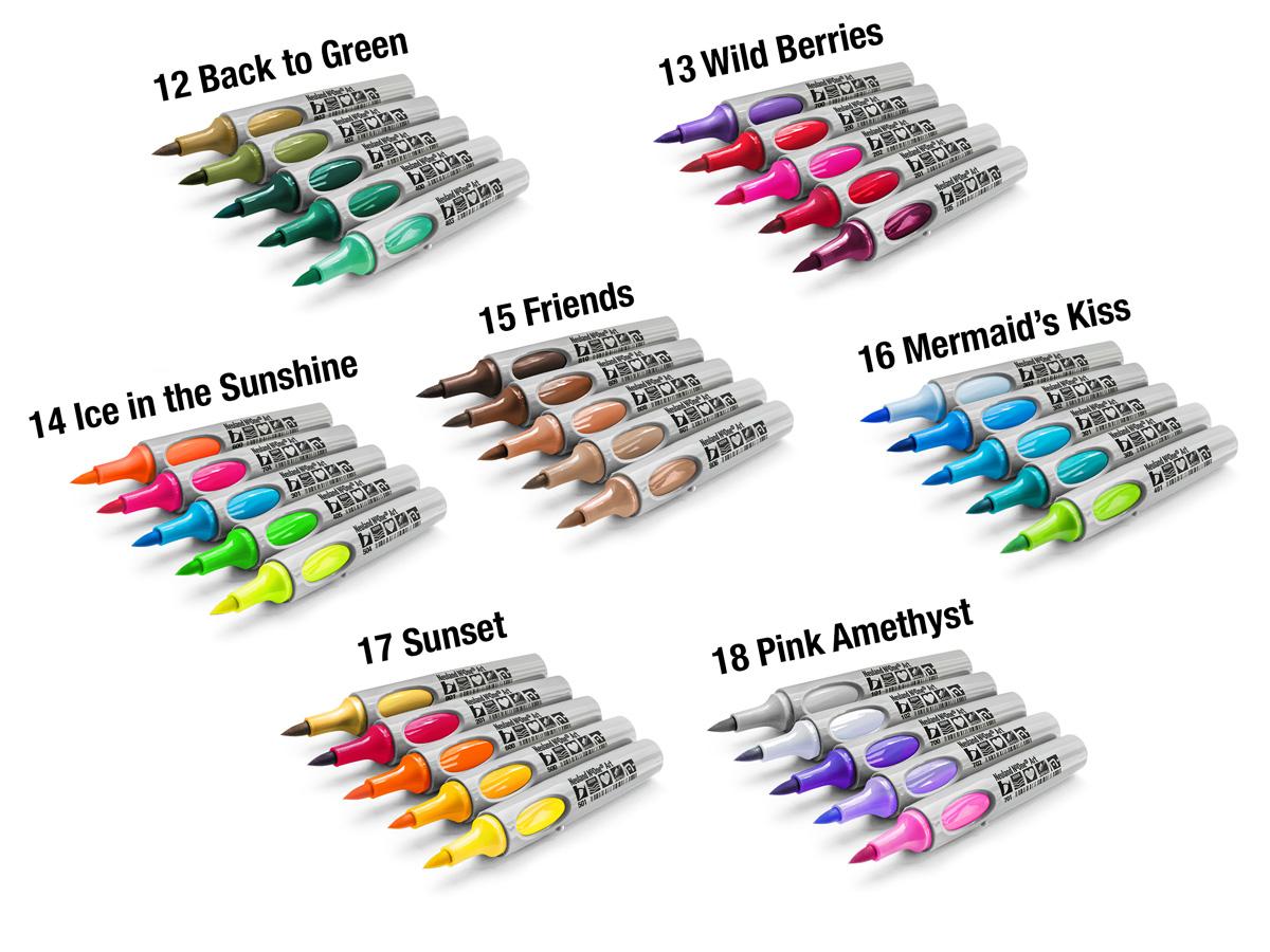Színezd újra a tavaszt - tölthető filctollak 48 színben